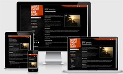 CMSimple Template Black Orange